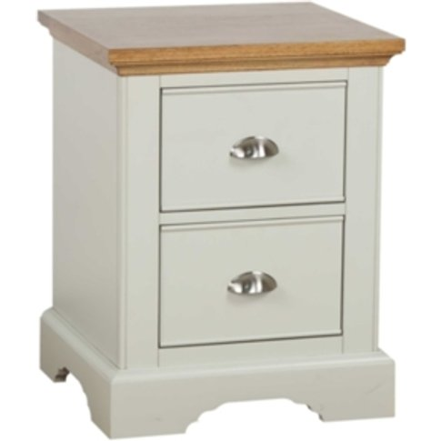 Dalton Two Drawer Bedside Table - Grey