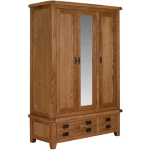Kinsale Three Door Two Drawer Wardrobe