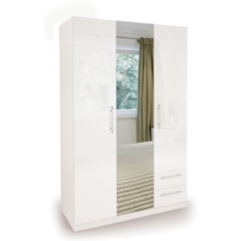 Ashburton Three Door Two Drawer Wardrobe With Mirror...