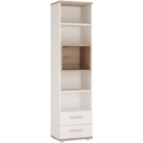 Fun Two Drawer Bookcase - Lilac