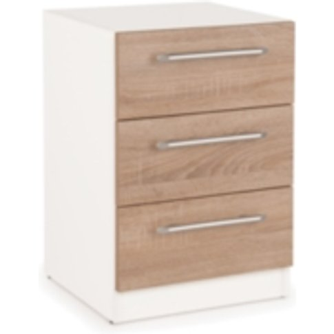 Ashburton Bedside Table - White / Oak