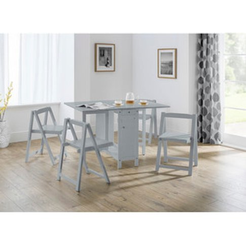 Savoy Dining Table With Chairs - Light Grey
