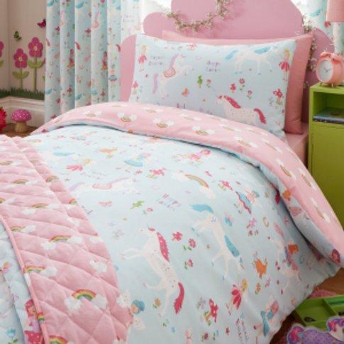 Magical Unicorn Printed Duvet Cover And Pillowcase S...