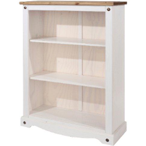 Corona Low White Bookcase