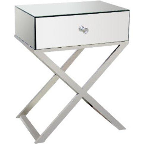 Cross Legged Mirrored Side Table