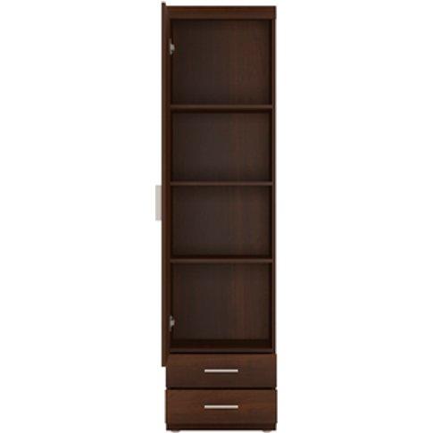 Kiel Tall One Door Two Drawer Narrow Cabinet - Dark ...