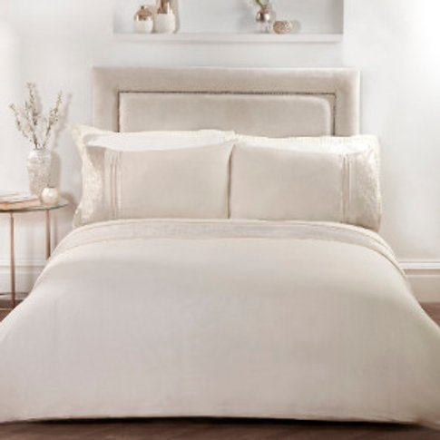 Gild Panel Duvet Cover And Pillowcase Set - Gold / Double