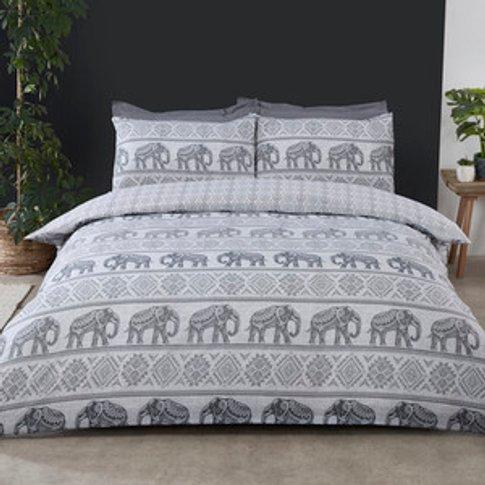 Hathi Elephant Duvet Cover And Pillowcase Set - Double