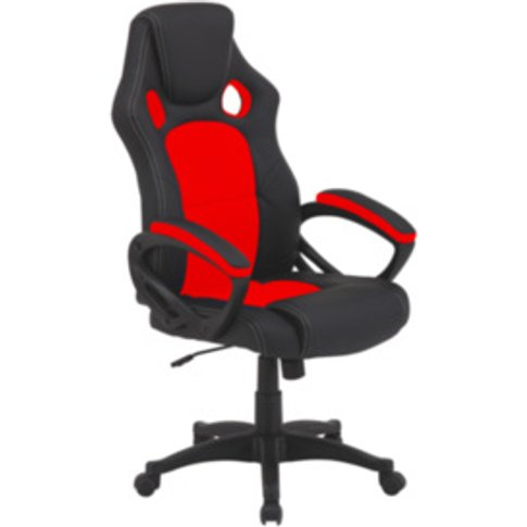 Mercury Office Chair - Red & Black