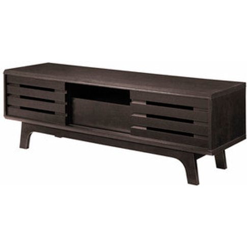 Essentials Tv Cabinet With Sliding Doors And One Dra...