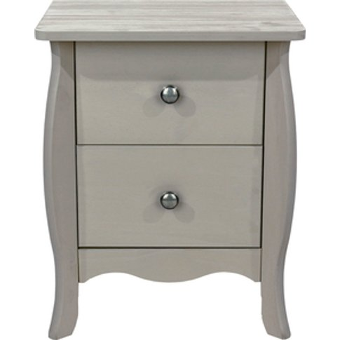 Provence Two Drawer Bedside Cabinet - Grey