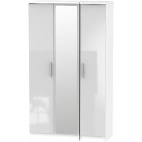 Carlton Three Door Mirrored Wardrobe - Grey