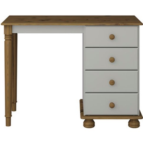 Steens Richmond Four Drawer Dressing Table - Grey & ...