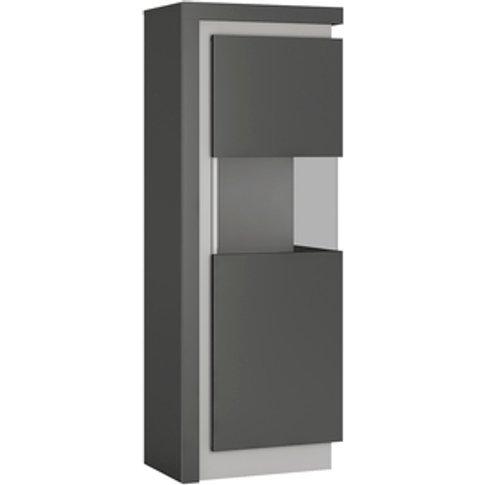 Jonas & James Lelia Narrow Display Cabinet - Platinu...
