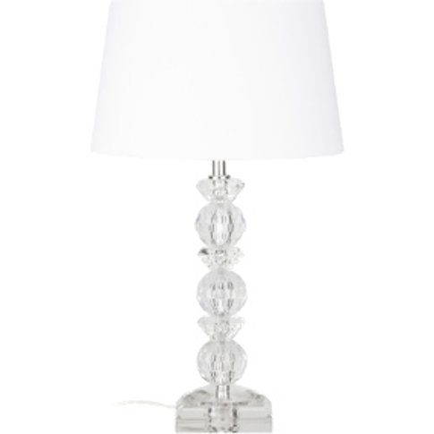 Crystal Faceted Table Lamp - Clear