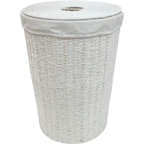 Seabrook Paperloom Laundry Basket - White