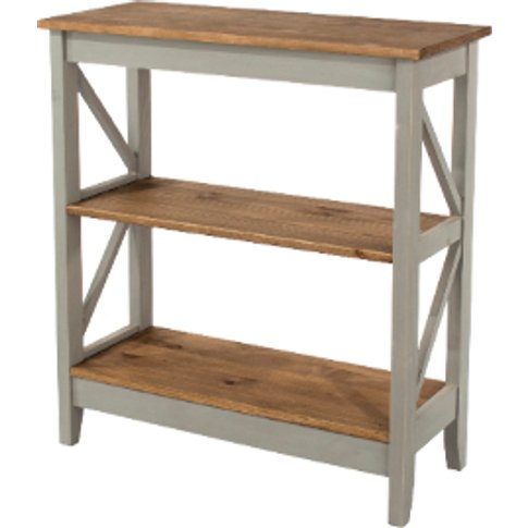 Corona Three Tier Wide Grey Shelving Unit - Grey