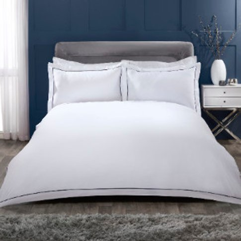 Oxford Stitch Trim 200 Thread Count Duvet Cover and ...