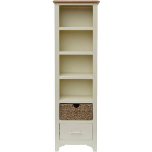 Kansas Slim Bookcase With Baskets