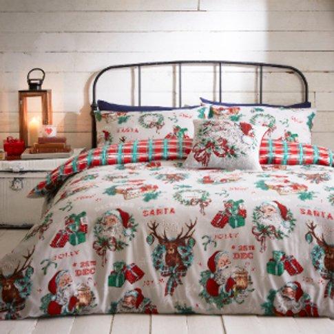 25th December Multi Printed Duvet Cover And Pillowca...