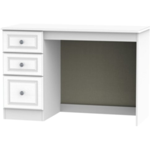 Pembury Three Drawer Desk - White