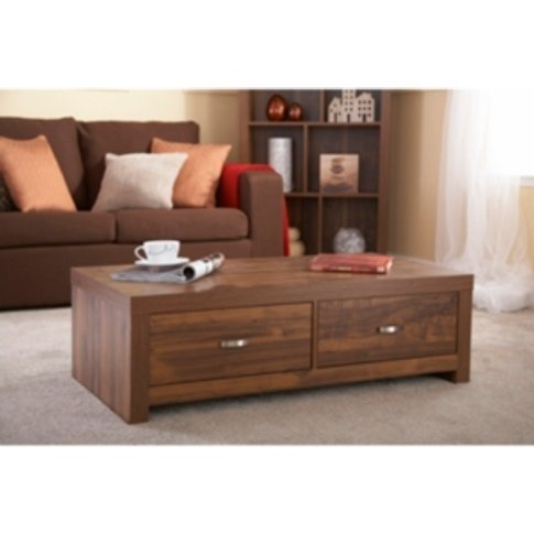 Hampton Two Drawer Coffee Table - Brown