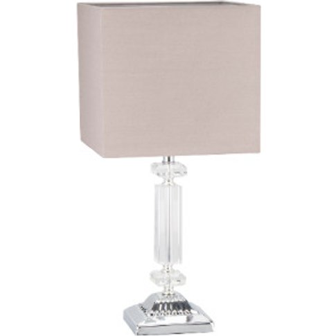 Crystal Table Lamp - Taupe