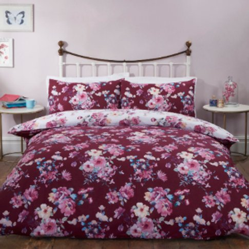 Eve Floral Printed Duvet Cover and Pillowcase Set - ...