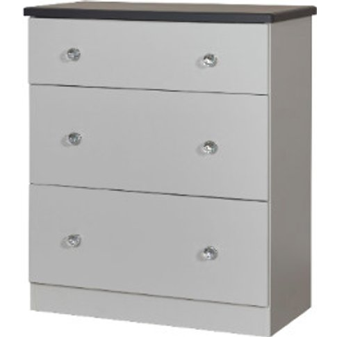 Nancy Three Drawer Chest - Grey