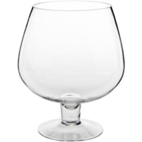 Brandy Glass Vase - Clear