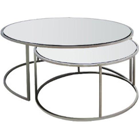 Chrome Circular Coffee Table