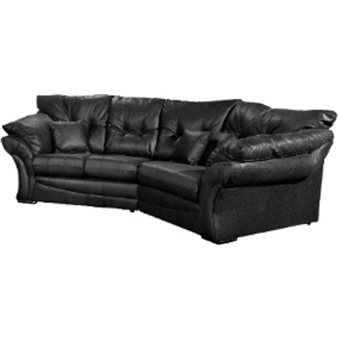 Florida Cosy Corner Sofa - Black / Right-Hand