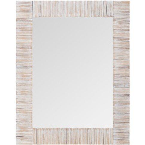 Seaton Washed White Wood Mirror