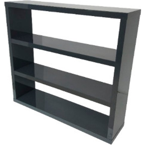 Puro High Gloss Bookcase - Charcoal