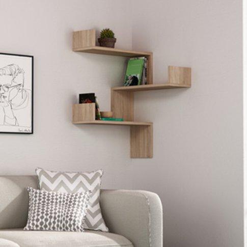 Decortie Luksa Corner Bookcase - Oak