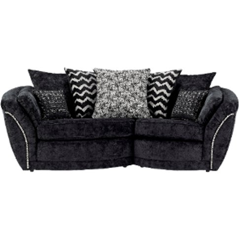 Left-Hand Facing Izzy Snuggle Sofa  - Black
