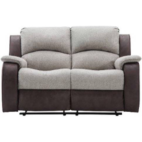New Charleston 2 Seater Recliner Sofa - Brown