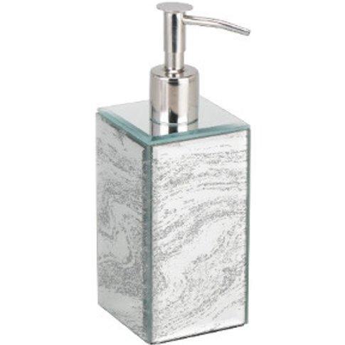 Marbled Glitter Glass Soap Dispenser
