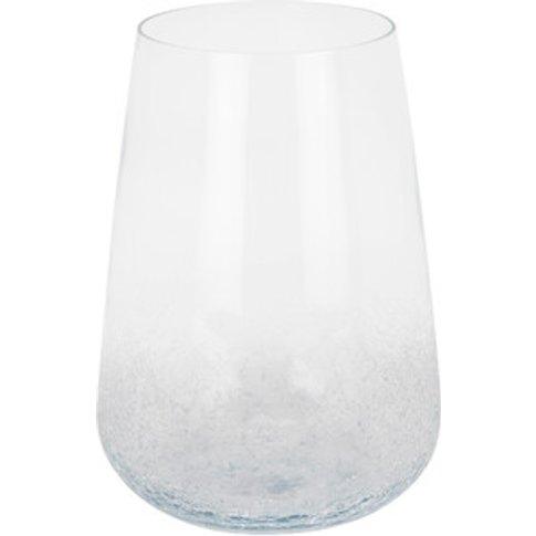 Clear Crackle Vase