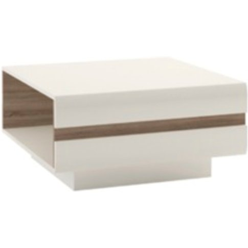 Lecce Coffee Table  - White / 90cm