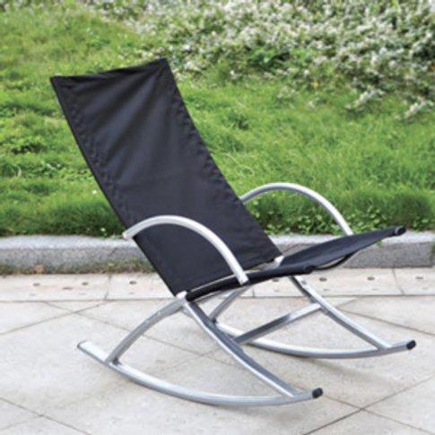 Garden Rocking Chair - Black