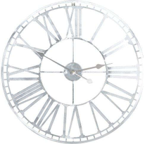 Silver Numeral Clock - Silver