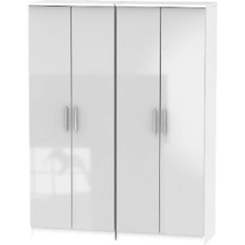 Carlton Four Door Wardrobe - Grey