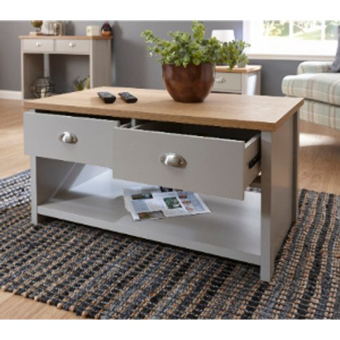 Lancaster Two Drawer Coffee Table - Grey