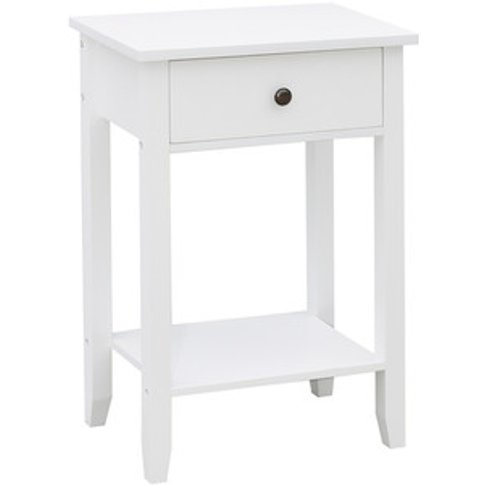 Windsor 1 Drawer White Console Table - White