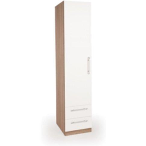 Ashburton One Door Two Drawer Wardrobe - Oak / White
