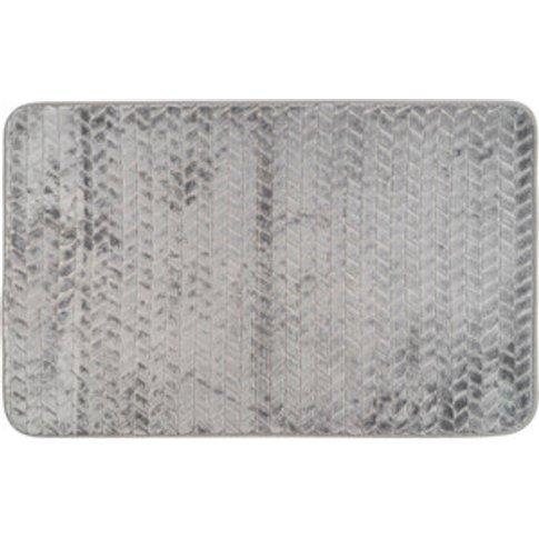 Shear Memory Foam Bath Mat - Grey