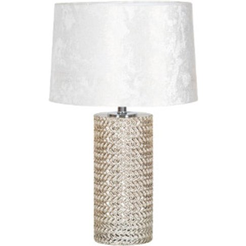 Chrome Weaved Table Lamp