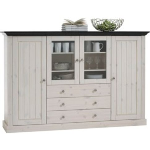 Monaco Four Door Three Drawer Display Cabinet - White