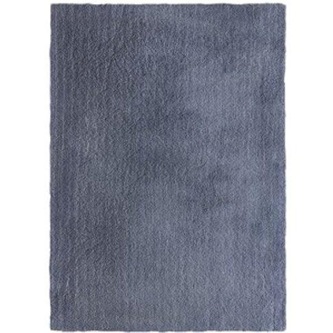 Plush Shaggy Rug - Slate Blue / 150cm